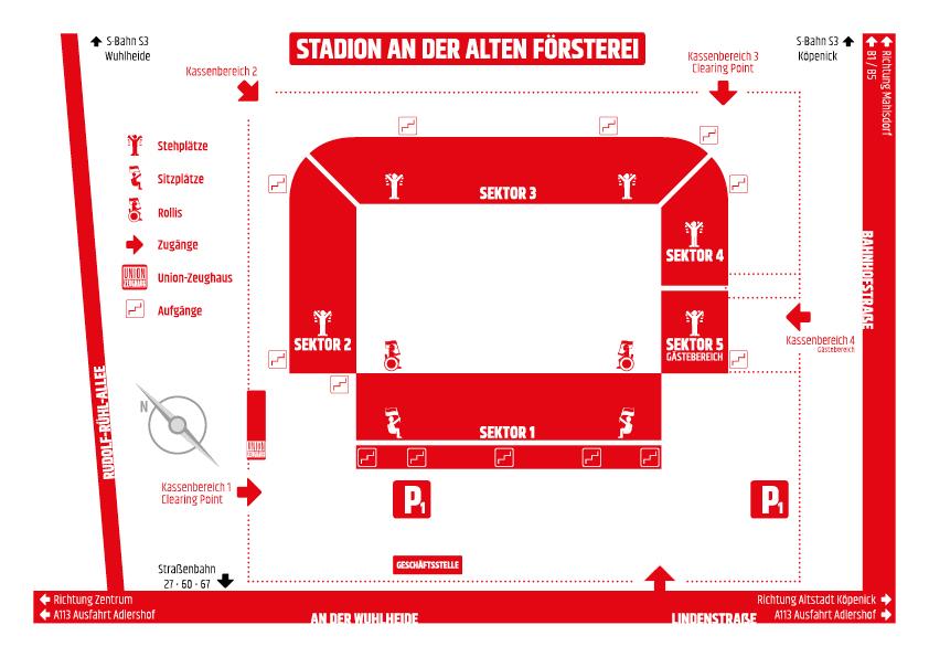 Stadion An der Alten Försterei   Stadionplan & Stadionordnung